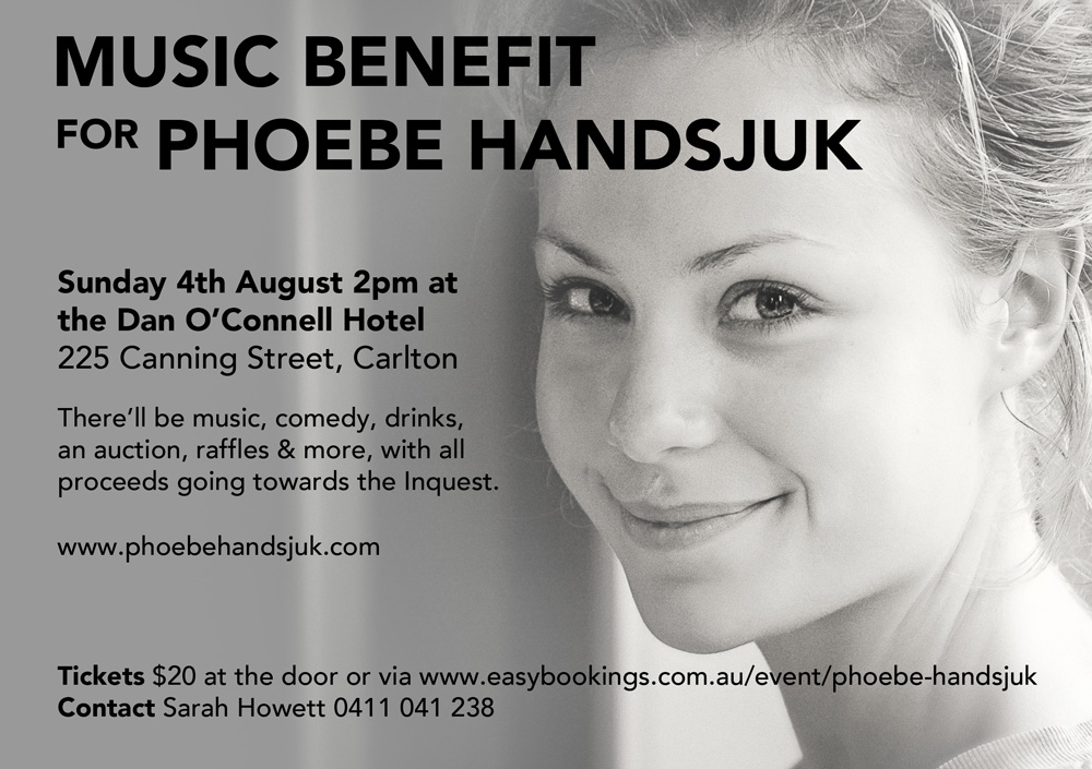 Music Benefit for Phoebe Handsjuk Details