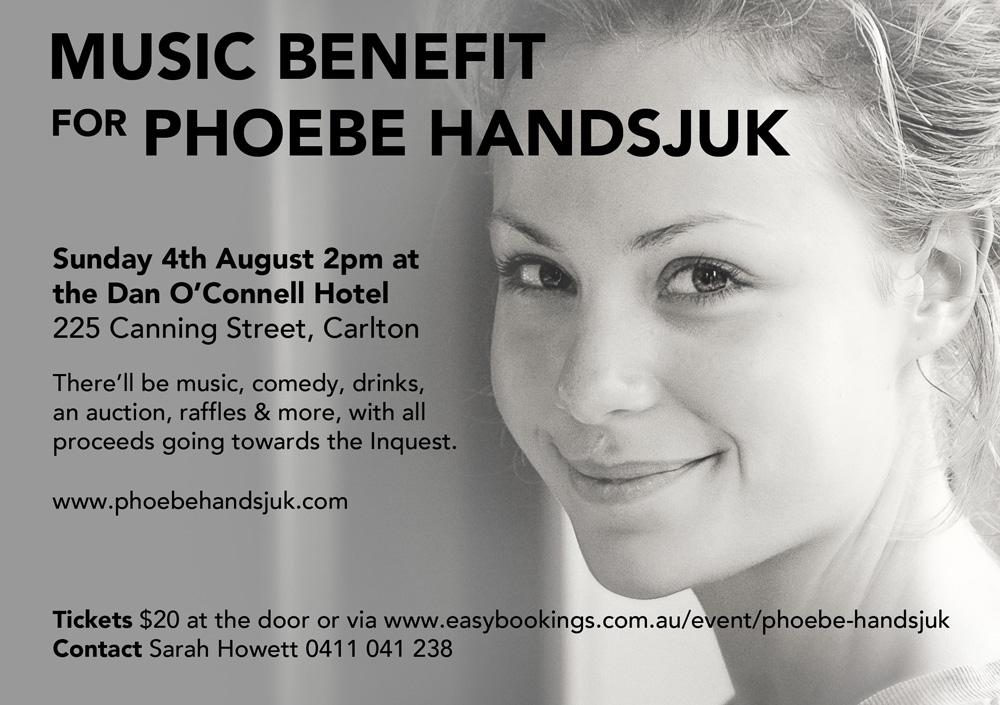 Music Benefit for Phoebe Handsjuk Details